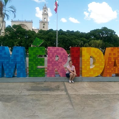 Merida spelled out in giant letters