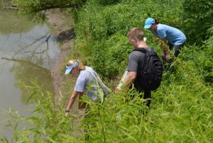 Investigating changes in the riparian corridor as the result of upstream dam construction.