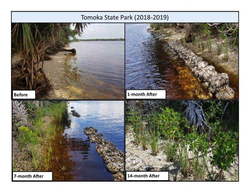 Tomoka State Park change over time