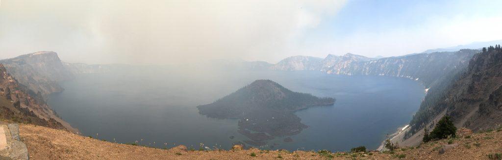 smoky Crater Lake