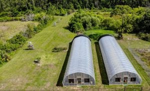 Areal view of greenhouse