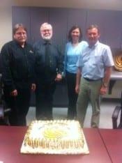 L to R: Dr. Arlen Chase, Dean Michael Johnson, Dr. Jana Jasinski and Dr. Laurence Von Kalm