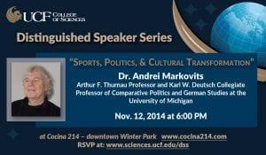 Distinguished speaker series, Dr. Andrei Markovits