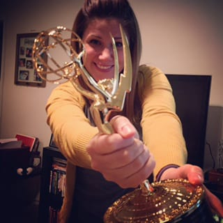 NSC alumna Tiffany Anthony had not been able to attend the 2015 ceremony. Once received at WJXT, the prized Emmy was forwarded to her.