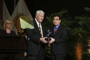 Dr. Zenghu Chang receiving the Pegasus Professor Award. Photo credit: Nick Russett
