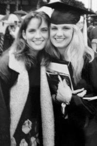 Jennifer (King) McVan and sister Lauren King celebrate graduation day at UCF in December of 1999.