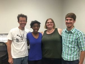 Pictured (left to right): John Muller, Kenisha Johnson , Rhena South, Nicholas Altizer