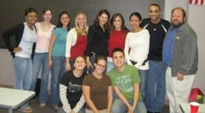 Drew and classmates