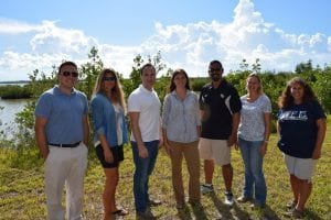 From left to right: Tim Hawthorne, Melinda Donnelly, Geoffrey Cook, Kelly Kibler, Fernando Rivera, Lisa Chambers and Linda Walters