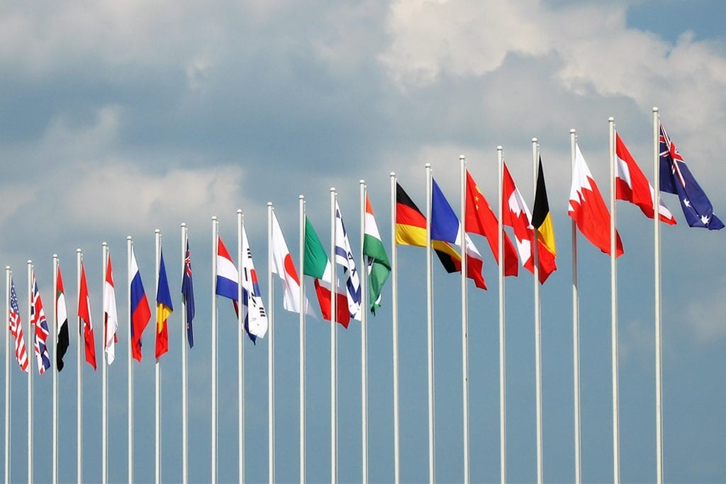 Picture of world flags