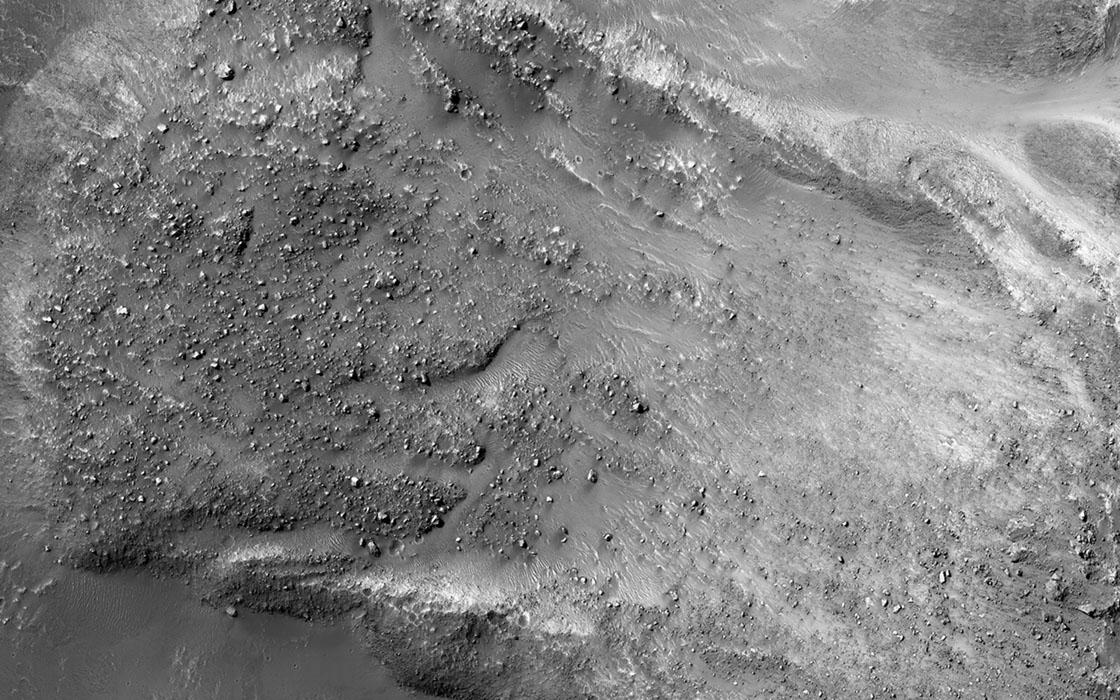 Landslides on the asteroid Ceres. Credit: NASA/Dawn mission