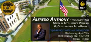 Alfredo Anthony Speaking Event