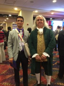 President Matthew LaPalme with a Ben Franklin impersonator